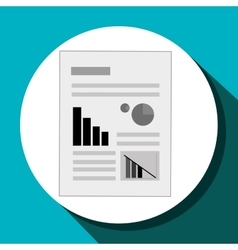Report sheet icon vector image