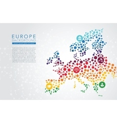 Europe dotted background vector