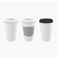 Bright cups of coffee vector