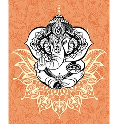 Ornament god ganesha vector