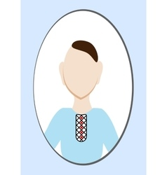 Male avatar or pictogram for social networks vector