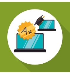 E-learning design education icon isolated vector