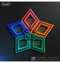 Infographics design with colorful rhombs vector