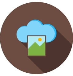 Images on cloud vector
