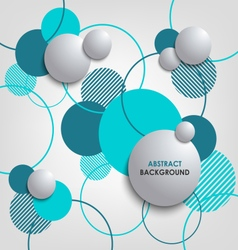 Abstract background with blue circles and bubbles vector
