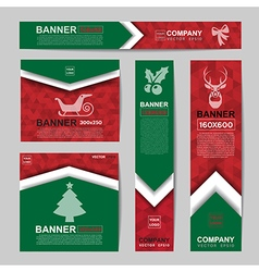 Abstract Christmas banner vector image
