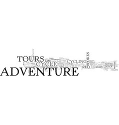 Adventure cycle tours text word cloud concept vector
