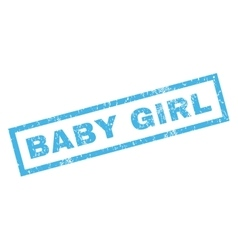 Baby Girl Rubber Stamp vector image