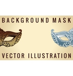 Beautiful banner mask of lace mardi gras vector