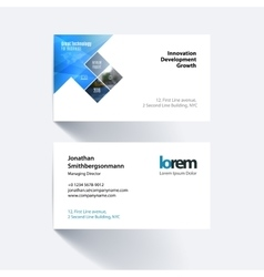Business card template with rectangles vector