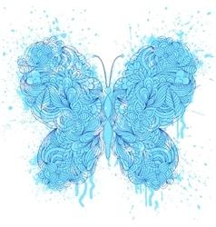 Butterfly on grunge splash vector
