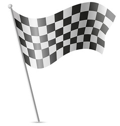 Checkered flag for car racing 01 vector