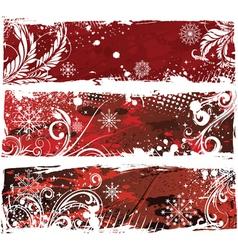 christmas web banners vector image vector image