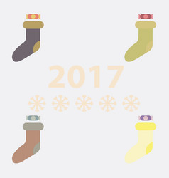 Collection of new year socks vector
