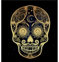 Day of the Dead sugar scull vector image