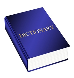 dictionary vector image