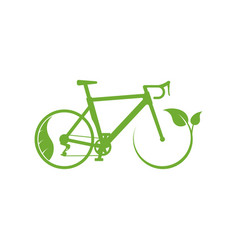 ecology bike driving icon vector image vector image