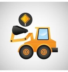 Excavator wheeled machinery vector