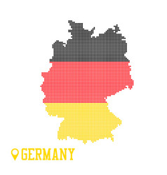 Germany dotted map colorful flag nation yellow vector