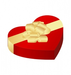 heart box vector image vector image