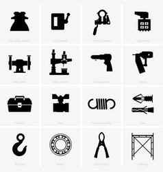 Industrial objects vector
