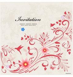 invitation art vector image
