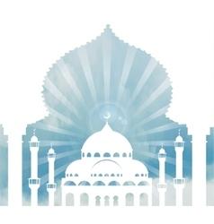 Islam backgroundmosquearchskycloudsday vector