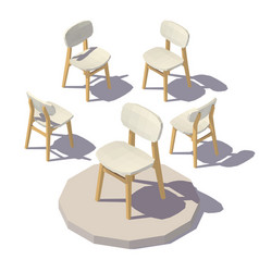 Isometric designer chair vector