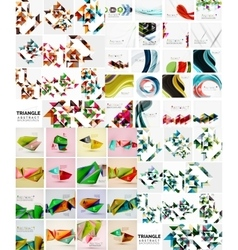 Mega set of various style geometrical templates vector image