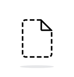 Missing file icon on white background vector