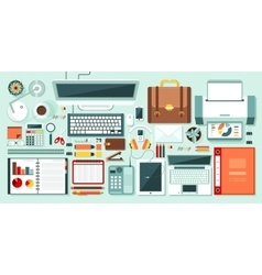 office set 1 vector image vector image
