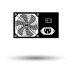 Power unit icon vector