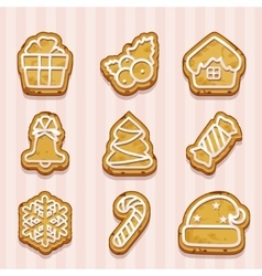 shaped cookies for Christmas and New Year vector image vector image