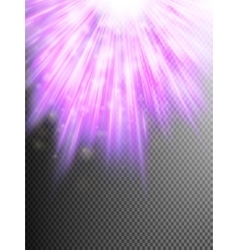 Star light with rays background EPS 10 vector image vector image