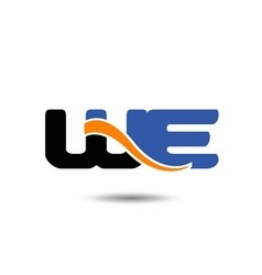 Wd initial company group logo vector
