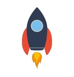 Rocket spaceship science icon graphic vector