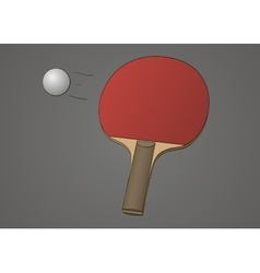 Table tennis racket vector