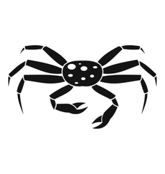 Crab seafood icon simple style vector