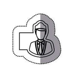 figure emblem guard person icon vector image