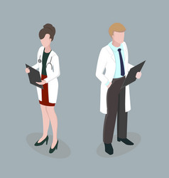 medical staff meeting doctors 3d isometric disign vector image