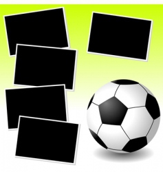 Soccer photo adventure vector