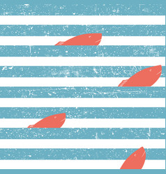 Marine background with red fish seamless blue vector
