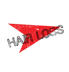 Hair loss rubber stamp vector
