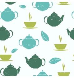 Tea Seamless Pattern Background vector image