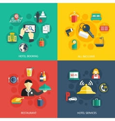 Hotel accommodation services concept vector