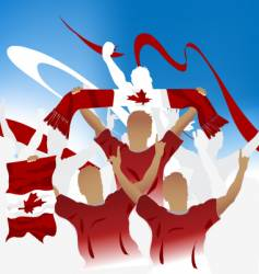 Canadian crowd vector