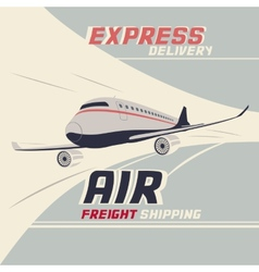 Air freight international shipping vector
