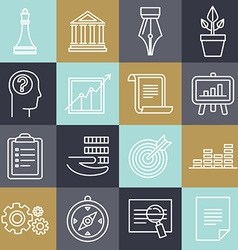 business strategy in linear style vector image