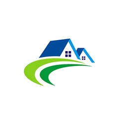 House realty abstract construction logo vector