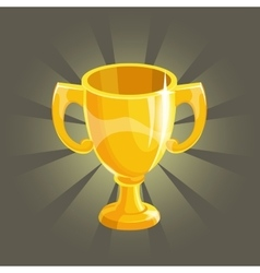 Golden winner cup vector